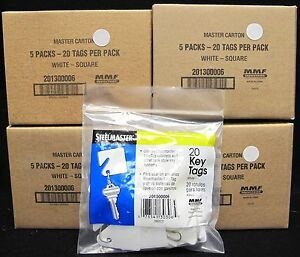 Lot Of 400 Steelmaster Numbered Slotted Key Tags Plastic 1 5 Square White