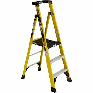 New Werner Pd7303 Fiberglass Podium Ladder Type Iaa Rating