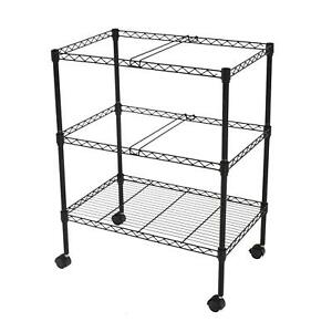 File Rolling Metal Cart 2 Tier Organizer Hospitals Schools Teachers Home Office