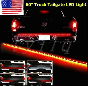 60 Flexible 5 Function Tailgate Led Strip Brake Signal Light Truck For Suv Jeep