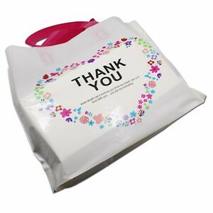 Large Plastic Shopping Bags With Handle Retail Plastic Merchandise Bags For Gift