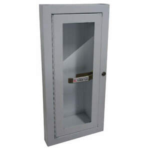 Fire Extinguisher Cabinet 5 Lb white 1rk37