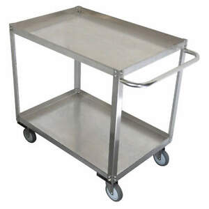 Grainge Stainless Steel Unassembled Utility Cart ss 41 L 1200 Lb 11a458 Silver