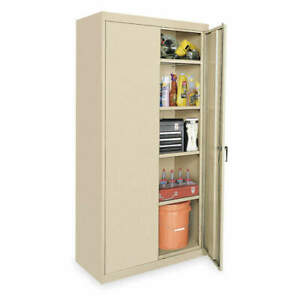 Grainger Approved Steel Storage Cabinet sand 72 In H 36 In W 1uez8
