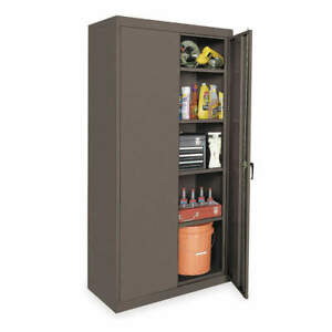 Grainger Approved Steel Storage Cabinet gray 78 In H 36 In W 1uey4