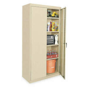 Grainger Approved Steel Storage Cabinet sand 78 In H 36 In W 1uey5