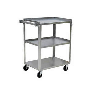 Grainger A Stainless Steel Utility Cart ss 31 Lx19 W 500 Lb Cap 5jnj6 Silver