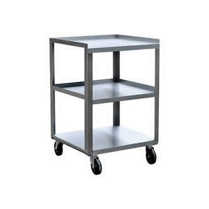 Grainger Stainless Steel Utility Cart ss 18 3 4 Lx16 3 4 W 300 Lb 5jnk4 Silver