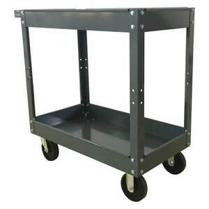 Grainger Approved Steel Unassembled Utility Cart 32 3 4 L 500 Lb 2w273 Gray