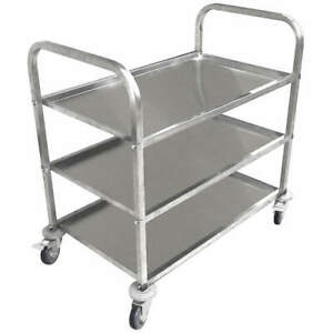 Grainger Approved Food Service Cart stainless Steel 450 Lb 35zw26 Silver