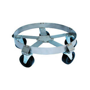 Grainger A Stainless Steel Drum Dolly 1100 Lb 8 3 4 In H 55 Gal 6fvj0 Silver