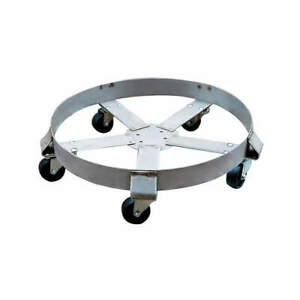 Grainger A Stainless Steel Drum Dolly 1100 Lb 6 1 2 In H 55 Gal 6fvh8 Silver