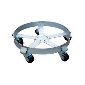 Grainger A Stainless Steel Drum Dolly 1100 Lb 6 1 2 In H 55 Gal 6fvh9 Silver