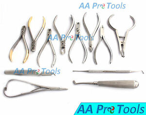Aa Pro Set Of Orthodontic Instruments Of 13 Pieces Stainless Steel