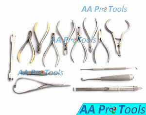Set Of Orthodontic Instruments Of 13 Pcs Stainless Steel Height Gauge Dn 495