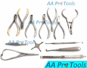Set Of Orthodontic Instruments Of 13 Pieces Stainless Steel With Star Gauge