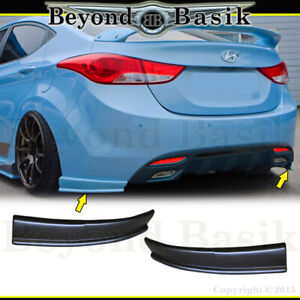For 2011 2012 2013 Hyundai Elantra 2pc Sequence Style Rear Bumper Chins Body Kit
