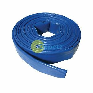 Lay Flat Hose 10m X 32mm Pvc Water Delivery Hose Discharge Pump Irrigation