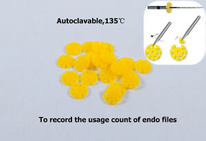 1000pcs Dental Safety Memo Disc Smd Endo Rotary Files Autoclavable 135 Yellow
