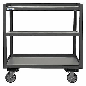 Grainger Approved Utility Cart steel 30 Lx24 W 1200 Lb Psd 2430 3 95 Gray