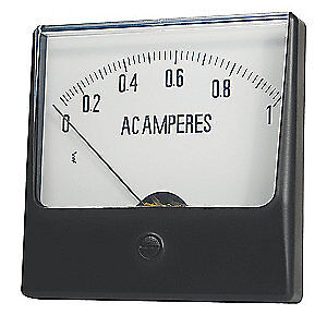 Grainger Approved Analog Panel Meter ac Current 0 50 Ac A 12g387