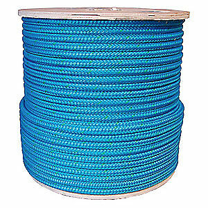 Grainger App Rigging Line Rope 1 2 In X 600 Ft double 20tl66 Blue green Tracer