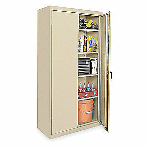 Grainger Approved Steel Storage Cabinet sand 78 In H 36 In W 1uey2