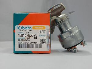 New Kubota Diesel Engine Ignition Key Switch 1e013 63590 Turf Mowers power Unit