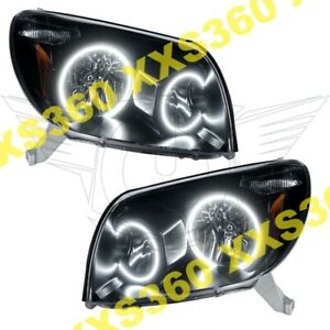 Oracle Halo Headlights Black Toyota 4runner 03 05 White Led Angel Demon Eyes