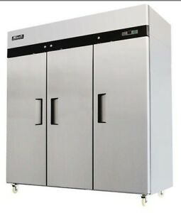 Migali Commercial 3 Door Reach In Freezer C 3f Free Shipping