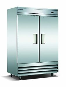 Vortex Refrigeration 2 Solid Door Commercial Upright Reach in Freezer V 2f