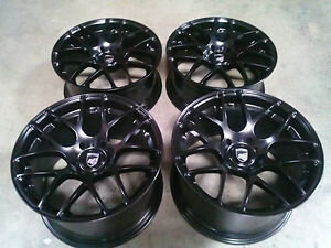 Porsche Ruger Mesh Black 20 Wheels Rims 911 987 997 996 Cayman Carrera Turbo