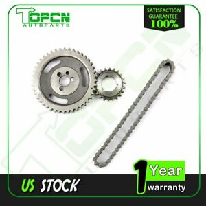 For Gm Sbc Chevy Hd Double Roller Timing Chain Set 5 7l 283 305 400