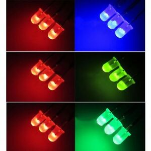Common Cathode anode Mist 5mm Led Double color Lamp Emitting Diode 3 Pins