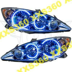 Oracle Halo 2x Headlights Toyota Camry 05 06 Blue Led Angel Demon Eyes