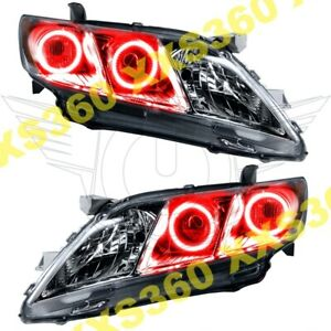 Oracle Halo Headlights For Toyota Camry 07 09 Red Led Angel Demon Eyes