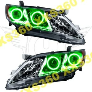 Oracle Halo Headlights Toyota Camry 07 09 Green Led Angel Demon Eyes