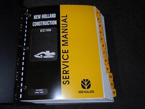 New Holland Ec160 Excavator Service Manual