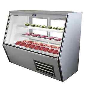 Commercial Refrigerated High Deli Meat Display Case 72