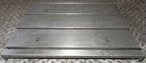 18 X 13 X 2 1 2 Steel T slot Table Fixture Industrial Nice Clean