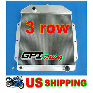 For 1949 1950 1951 1952 1953 Ford V8 Cars Aluminum Radiator 49 50 51 52 53