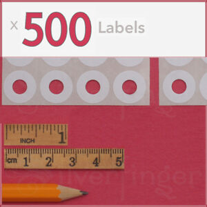 500ct Paper Hole Reinforcements Label Sticker Binder Ring Punch Hole Protector