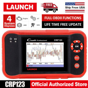 Launch X431 Crp123 Obdii 4 Systems Diagnostic Tool Obd2 Scanner Auto Code Reader