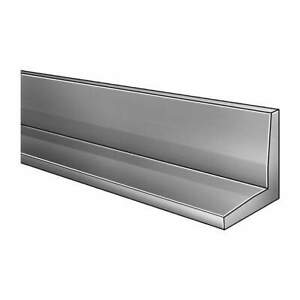 Grainger Approved Aluminum Angle al 6061 1 4 In T 4 In Leg 8 Ft L 2eyx1