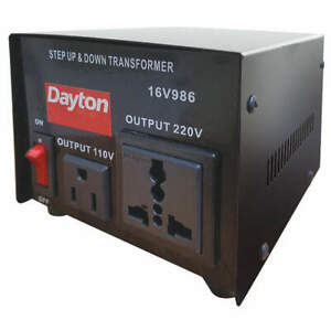 Dayton Step Up down Voltage Converter 500va 16v986