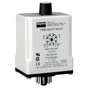 Dayton Time Delay Relay 24vac dc 10a dpdt 24ep08