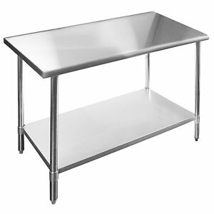 Commercial Stainless Steel Kitchen Prep Work Table 18 X 48