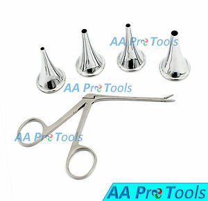 Hartman Ear Speculum Micro Ear Alligator set Of 5 Surgical Ent Ds 006