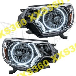 Oracle Halo Headlights For Toyota Tacoma 12 15 White Led Angel Demon Eyes