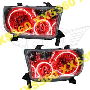 Oracle Halo Headlights For Toyota Tundra 07 13 Red Led Angel Demon Eyes
